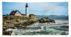 Oldest Lighthouse In Maine Bath Towel
