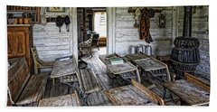 Oldest School House C. 1863 - Montana Territory Bath Towel