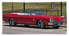 Oldsmobile Delta Royale 88 Red Convertible Bath Towel