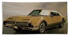 Oldsmobile Toronado 1965 Painting Bath Towel