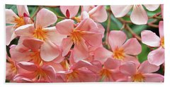 Hand Towel featuring the photograph Oleander Dr. Ragioneri 5 by Wilhelm Hufnagl