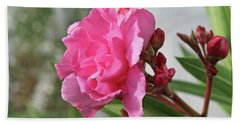 Hand Towel featuring the photograph Oleander Splendens Giganteum 4 by Wilhelm Hufnagl