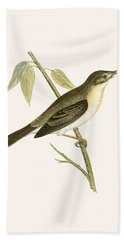 Olivaceous Warbler Hand Towel by English School