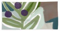 Olive Branch 1- Art By Linda Woods Hand Towel
