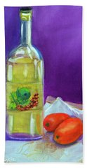 Olive Oil And Tomatoes Bath Towel