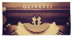 Olivetti Typewriter Bath Towel