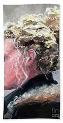 Hand Towel featuring the painting Olivia 2 by Diane Daigle