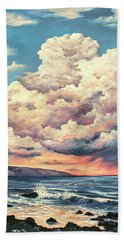Bath Towel featuring the painting Olivine Pools Maui by Darice Machel McGuire