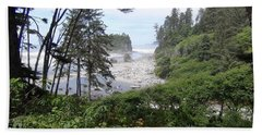 Hand Towel featuring the photograph Olympic National Park Beach by Tony Mathews