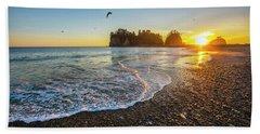 Olympic Peninsula Sunset Hand Towel by Martin Konopacki