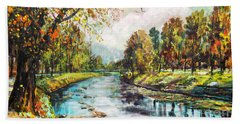 Olza River Bath Towel