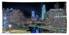 Bath Towel featuring the photograph Omaha Holiday Lights Festival by Susan Rissi Tregoning
