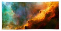 Omega Swan Nebula 3 Hand Towel by Jennifer Rondinelli Reilly - Fine Art Photography
