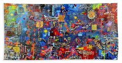 On A Chip Bath Towel by Regina Valluzzi