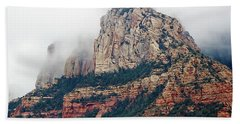 Hand Towel featuring the photograph On A Misty Day by Phyllis Denton