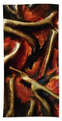 On Fire Hand Towel by Angela Stout