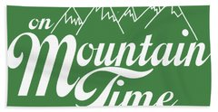 On Mountain Time Hand Towel