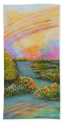On My Way Hand Towel by Holly Carmichael