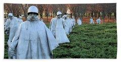 On Patrol The Korean War Memorial Bath Towel