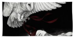 On Silent Wings Bath Towel by Pat Erickson
