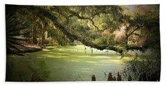 On Swamp's Edge Hand Towel by Scott Pellegrin