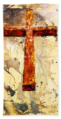 On That Old Rugged Cross Hand Towel