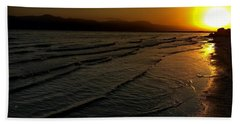 On The Banks Of The Salton Sea Hand Towel by Chris Tarpening