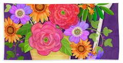 On The Bright Side - Flowers Of Faith Hand Towel