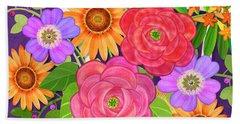 On The Bright Side - Flowers Of Faith Bath Towel