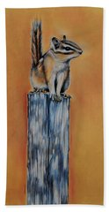 On The Fence Bath Towel by Jean Cormier