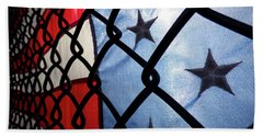 Bath Towel featuring the photograph On The Fence by Robert Geary