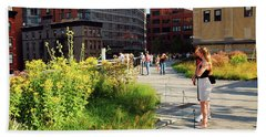 Bath Towel featuring the photograph On The High Line by James Kirkikis