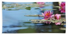Bath Towel featuring the photograph On The Pond by Amee Cave