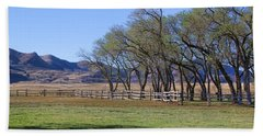 Hand Towel featuring the photograph On The Ranch by Ely Arsha