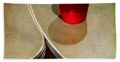 On The Right. #redglass #tables Hand Towel
