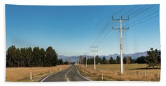 Bath Towel featuring the photograph On The Road by Gary Eason