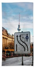 On The Road In Berlin Bath Towel