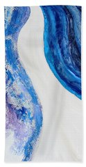 On The Road In Blue Hand Towel