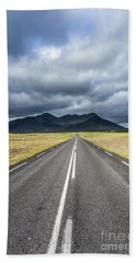 On The Road In Iceland Bath Towel