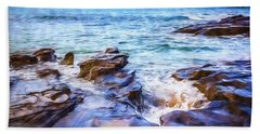 Bath Towel featuring the photograph On The Rocks by Perry Webster