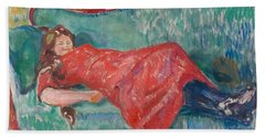 On The Sofa By Munch Bath Towel