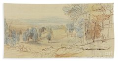 On The Way To Achmet Aga From Castella And Chalcis, Greece, 23 June 1848 Bath Towel