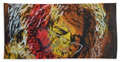 Bath Towel featuring the painting Once A Lion by Stuart Engel