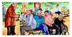 Once Upon A Park Bench Hand Towel