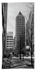 One Atlantic Center In Black And White Hand Towel