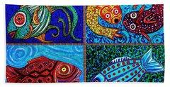 One Fish Two Fish Bath Towel by Sarah Loft