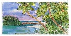 One-foot-island, Aitutaki Bath Towel
