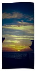 Hand Towel featuring the photograph One Last Glimpse by DigiArt Diaries by Vicky B Fuller