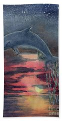 One Last Jump Bath Towel by Randy Sprout