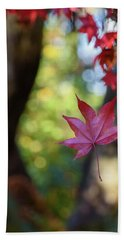 One Leaf Falls Hand Towel by Keith Boone
